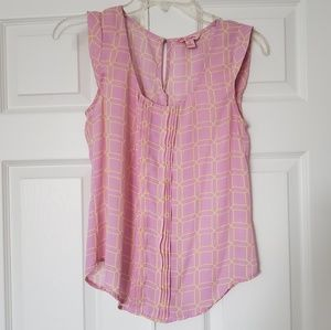 Candies pink and yellow blouse size small